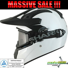 SHARK 16 Explore-R White Helmet Rider Race Motorcycle Road/Off Road Full Face