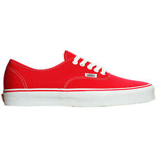 Vans Authentic Unisex Footwear Shoe - Red All Sizes