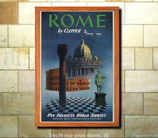 Pan Am Rome #2 - Vintage Airline Travel Poster [6 sizes, matte+glossy avail]