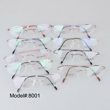 8001 Rimless beta titanium frames quality flexible eyewear spectacles glasses