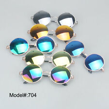 704 colorful round sunglasses fashion low price UV400 fashion metal sunshades