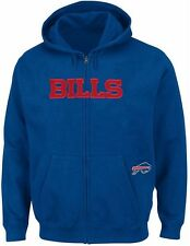 Buffalo Bills NFL Mens Full Zip Time Delay Hoodie Royal Big & Tall Sizes