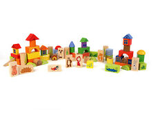 60 psc Wooden Constructor Masha and the Bear educational toys children mosaic