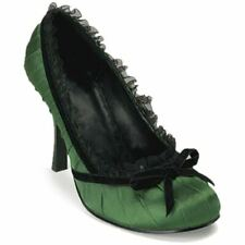Women's Funtasma Dainty-420 Satin Pump Green Lace Bow Rockabilly Pin Up Retro