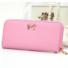 US SHIP Fashion Lady Women Leather Zip Clutch Wallet Long Card Holder Case Purse