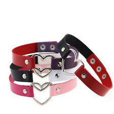 Hots Punk Goth Heart Cross Choker Necklace Ring Harajuku Leather Neck Nice Ring