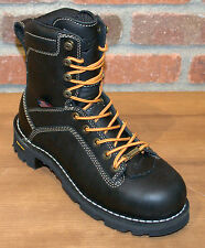 """Danner Women's Quarry USA 7"""" Black Alloy Safety Toe Boots 17325   Size 9"""