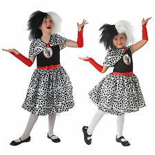 Girls Cruella De Ville Rubies Childrens Fancy Dress Costume-Wig SOLD SEPARATELY