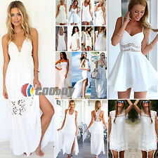 All White! Womens Sexy Mini Sleeveless Skirts + Party Club Luxury Cocktail Dress