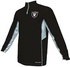 Oakland Raiders NFL Mens Synthetic 1/4 Zip Fleece Shirt Black Big & Tall Sizes