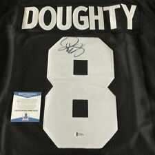 DREW DOUGHTY SIGNED AUTOGRAPH LOS ANGELES L.A. KINGS #8 BLACK JERSEY B w/PROOF