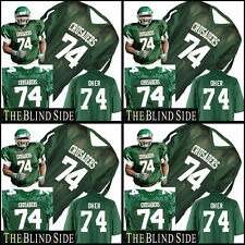 The Blind Side Movie Crusaders Green Football Jersey  #74 Michael Oher Any Size