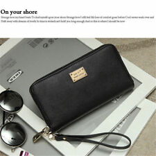 US SHIP Women Lady Zip Leather Clutch Phone Bag Long Purse Wallet Card Holder
