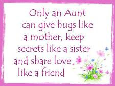 Handmade Aunt, Auntie, Aunty Personalise Sign Plaque Lovely Special Gift Present