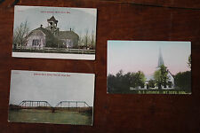 Lot of three early 1900s Mount Hope Postcards Made for Ideal Restaurant Mt.