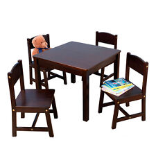 NEW KidKraft Sturdy Farmhouse Wooden Table and Chair Set for Kids, Color - Pecan