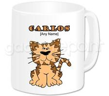 Personalised Gift Cat Moggie Sitting Coffee Tea 11oz Mug Any Name Message Cup