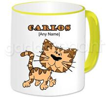 Personalised Gift Cat Moggie Walking Coffee Tea 11oz Mug Any Name Message Cup