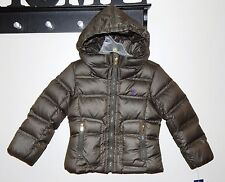 NEW Ralph Lauren Polo Toddler Girls Puffer Jacket 3T & 4T FEATHERS Coat R.$165.-