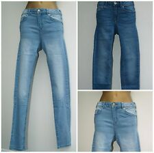 *NEW* Ladies Ex-H&M Skinny Fit Jeans Women's Denim Blue Jeans Size 6 - 20