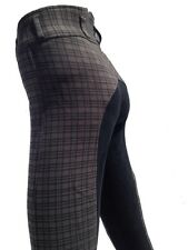 Ladies Breeches, Womens Checked Jodhpurs,Full Seat Suede. Only Size 8, 16 left