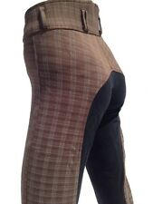 Ladies Breeches, Womens Checked Jodhpurs,Full Seat Suede. Sizes 8,10,12,14,16,18