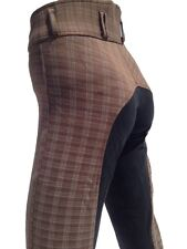 Ladies Brown Breeches, Womens Checked Jodhpurs,Full Seat Suede. Sizes 8-18