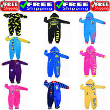 NEW SZ 2~8 KIDS PYJAMAS JUMPSUIT SLEEPWEAR BATMAN MINION FROZEN PJS BOYS GIRLS