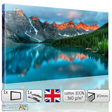 LARGE LANDSCAPE MOUNTAIN AND LAKE CANVAS WALL ART FRAMED PRINTS PICTURES FRAMED