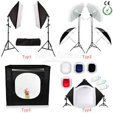 Photo Studio Softbox Soft Box Umbrella LED Light Shooting Cube Tent Backdrop Kit