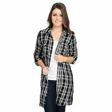 Indigo Thread Co. Woven Long Sleeved Button Front Plaid Duster NWT