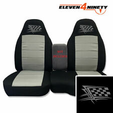 91-15 Ford Ranger Blk Silver 60-40 Seat Covers W Flag Logo Choose From 9 colors