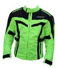 BLUE MOON MEN's Cordura Textile Motorcycle Bike Jacket HI-VIZ Size M L XL