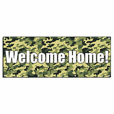 WELCOME HOME! MILITARY CAMO 13oz Vinyl Banner Sign