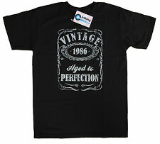 Vintage Aged to Perfection 1986 30th Birthday Present T Shirt 30 Years Old