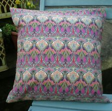 Liberty of London Fabric Cushion Covers  'Ianthe' Fushia Pink and Grey
