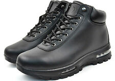 Labo Men's Lace Up Black Leather Winter Boots 5812