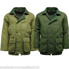 MENS TWEED SHOOTING JACKET WATERPROOF WINDPROOF HUNTING COUNTRY COAT JACK & WOOD