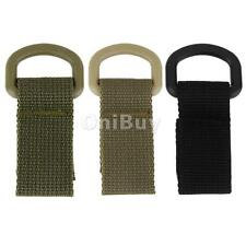 2x Tactical Molle Hanging Belt Carabiner Webbing Buckle Strap Snap Clip Backpack