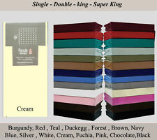 FITTED SHEETS PERCALE NON IRON SINGLE DOUBLE KING SUPER KING@PILLOWCASES