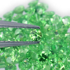 2.2mm Lot 1,2,6,20pcs Round Diamond Cut Natural Gemstone Green Garnet Tsavorite