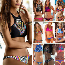 Womens Push Up Padded Strap Swimwear Bikini Set Swimsuit Beachwear Bathing Suit