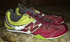 New Mens 10 11 NEW BALANCE 506 MD Burgundy Grey White Yellow Track Spikes Shoes