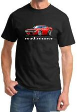 1972 Plymouth Roadrunner Muscle Car-toon Design Tshirt NEW