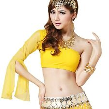 Size XS/S/M Sexy Indian dance Top shoulder Top Belly Dance Costume Tribal Top