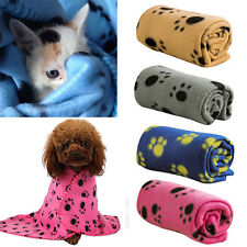 60*70CM Cozy Cute  Paw Print Pet Cat Dog Fleece Soft Blanket  Mat Cover