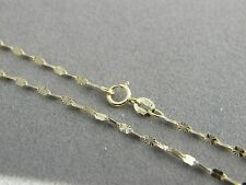 Solid 10k yellow gold SUN chain Necklace 1.65mm 10kt Italian gold  necklace