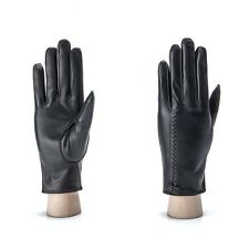 New Women Winter Warm Soft Driving Genuine Lambskin Leather Gloves With Bowknot