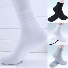 Lot Mens Womens One Size Cotton Warm Athletic Socks Casual Sports Ankle Socks