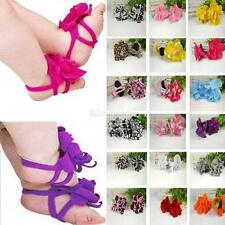 Girls Barefoot Socks Sandals Shoes Flowers Feet Toes Baby Blooms Crib Shoes New